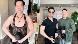 U50 Ngọc Sơn khoe cơ bắp chắc nịch, hé lộ quà 'khủng' nặng 30kg được fan tặng