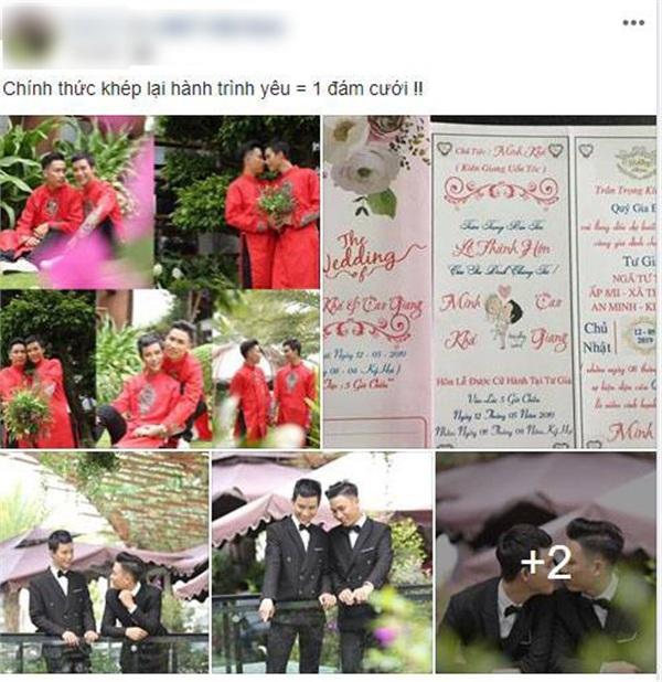 Đám cưới vượt khoảng cách giới tính của cặp trai đẹp ở Kiên Giang đang sốt rần rần cộng đồng LGBT-1