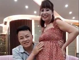 Xuất hiện với bụng bầu cực lớn như sắp lâm bồn, cô dâu 62 tuổi lại phát ngôn sốc khi tuyên bố đang tiết kiệm tiền để đẻ mổ