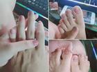 Thử sơn móng cho bạn trai, cô gái 'phát điên' khi thấy chân tay người ấy thon thả hơn mình