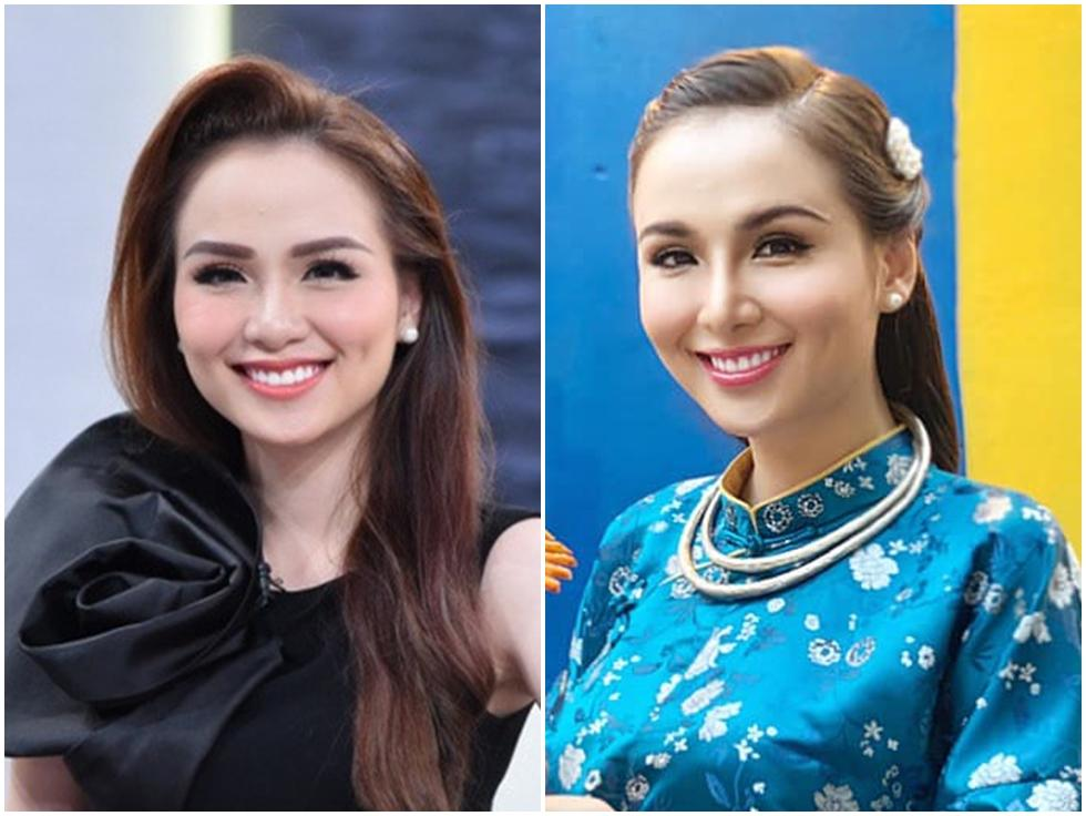 Hoa hậu Diễm Hương làm lố khi mặc áo dài và trang điểm lồng lộn để phục vụ sinh tố-5