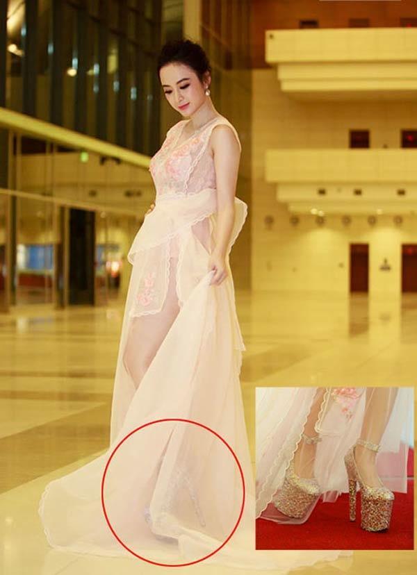 Những pha đi giày cáo gót nhìn muốn rợn tóc gáy của người đẹp Việt-10