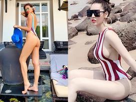Mỹ nhân Việt đua nhau khoe dáng nuột nà với bikini trên bãi biển trong kỳ nghỉ lễ