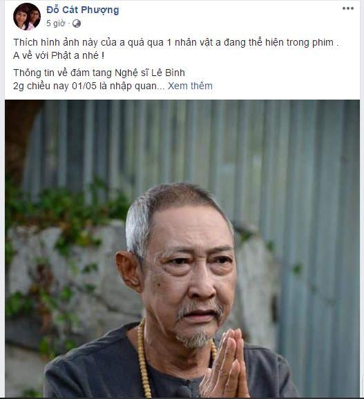 Nghệ sĩ Lê Bình vừa xa rời trần thế, Cát Phượng gây hoang mang khi thông báo: Sắp tới đến cô Cát-3