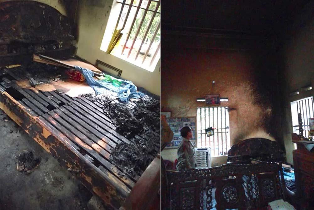 Bắt người phụ nữ tẩm xăng đốt mẹ già ở Hà Nam-1