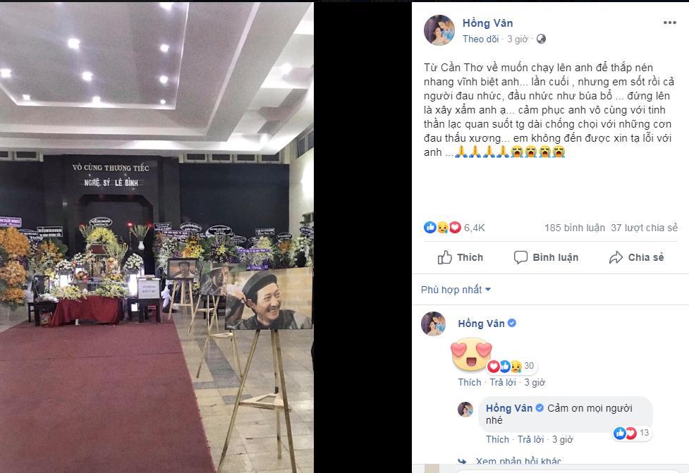 Gửi lời tạ lỗi, NSND Hồng Vân tiết lộ lý do không thể tới thắp nhang cho cố nghệ sĩ Lê Bình-2