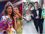 Sau thảm họa quần nhàu, Hoa hậu Hoàn vũ 2018 lại mặc đầm sến rện lép vế trước hội chị em Universe-16