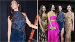 Sau thảm họa quần nhàu, Hoa hậu Hoàn vũ 2018 lại mặc đầm sến rện lép vế trước hội chị em Universe