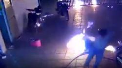 CLIP KINH HOÀNG: Cả nhà chạy toán loạn vì bị ném BOM XĂNG như phim hành động Mỹ