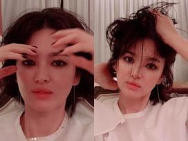 Hết hồn với hình ảnh đầu xù tóc rối của Song Hye Kyo