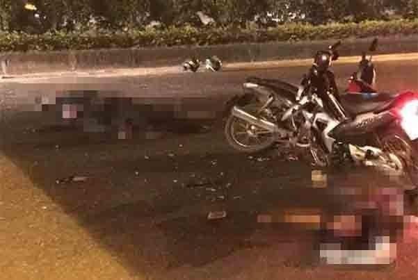 Đại úy CSCĐ bị xe máy kẹp 3 chạy ngược chiều tông tử vong-1
