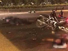 Đại úy CSCĐ bị xe máy kẹp 3 chạy ngược chiều tông tử vong