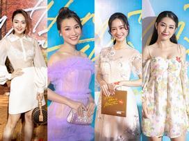 Loạt sao nữ Việt diện đồ đẹp mong manh đến ra mắt phim 'Ước hẹn mùa thu'
