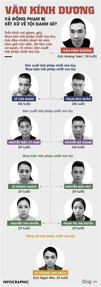 Văn Kính Dương, hot girl Ngọc Miu và đồng phạm bị xét xử tội gì?-1