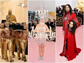 Thảm đỏ Met Gala 2019: Lady Gaga liên tục lột đồ khoe nội y, Cardi B mặc cực kín nhưng gây liên tưởng nhạy cảm, xuất hiện cả Pharaoh vàng chóe