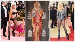 Lady Gaga làm lố 'lột đồ' 3 lần ở Met Gala 2019 cũng chưa thảm họa bằng bộ cánh thịt sống cực 'gắt' 1 thời
