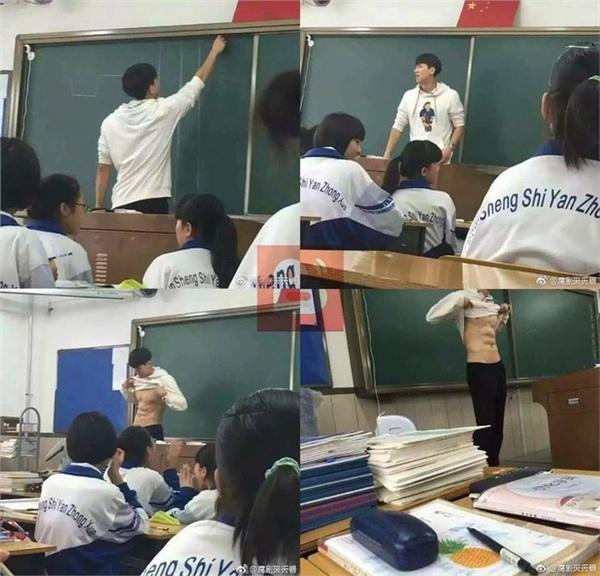 Đi học gặp thầy giáo cởi áo khoe body 6 múi, hội học sinh ráo riết truy tìm info-1