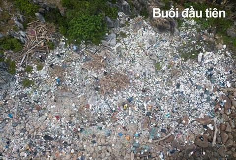 Bãi Đá Đen ở Đà Nẵng được trả lại vẻ đẹp sau 10 ngày dọn rác-1