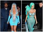 Kim Kardashian, Kylie Jenner nhiệt tình khoe vòng 1 tại tiệc Met Gala