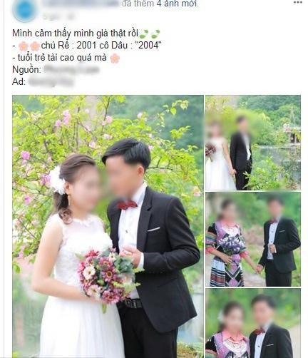 Người xem hoang mang đoán tuổi cặp cô dâu, chú rể mặt búng ra sữa gây xôn xao mạng xã hội hôm nay-4