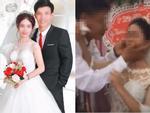 Hàng xóm sát vách hé lộ sự thật gây SHOCK: Vì sao cô dâu trẻ tức giận hất tay chồng không cho hôn trong đám cưới?