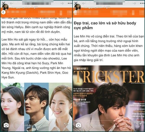 Hồng Quế - Nam Em cuồng si Lee Min Ho: Người tỏ tình chừng mực, kẻ bị dội bom vì gửi ảnh phản cảm cho nam thần-5