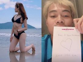 Bạn gái Văn Toàn đổi phong cách, khoe dáng mặc bikini gợi cảm