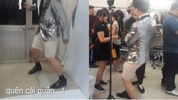 MC kì cựu Trấn Thành 'muối mặt' ở trường quay vì sự cố trang phục