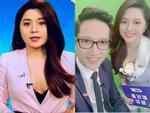 Sau sự cố gây tranh cãi trên sóng truyền hình, BTV Diệu Linh dùng sticker che kín vòng 1 khi post ảnh cùng đồng nghiệp nam