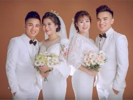 Cặp anh em song sinh tổ chức đám cưới cùng ngày khiến khách mời bối rối khi đến dự