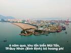 Cận cảnh khu lấn biển bỏ hoang 6 năm bên phố biển Quy Nhơn
