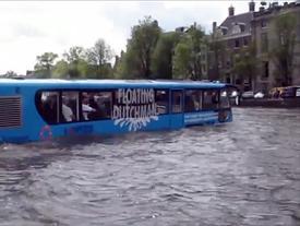 Du lịch bằng xe buýt dưới nước, khám phá thành phố ở Hà Lan