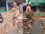 Người đàn ông ở Sài Gòn gây sốc khi đeo 100 cây vàng trên người chỉ để đứng bán ốc-4