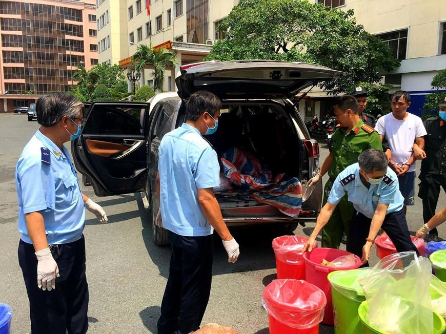 Hình ảnh vụ bắt nhóm người nước ngoài vận chuyển 500kg ma túy-4