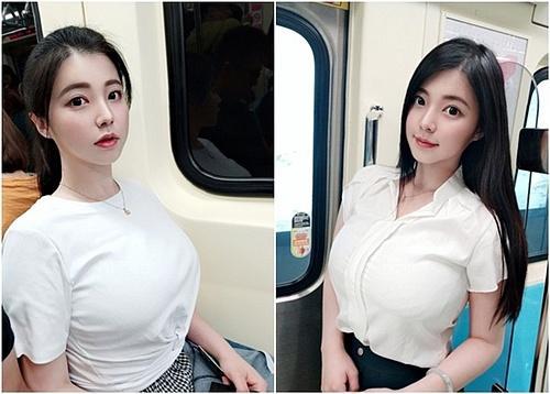 Girl xinh gây sốt vì ngủ gật trên tàu điện, nhưng vòng 1 khủng mới là tâm điểm chú ý của dân tình-4