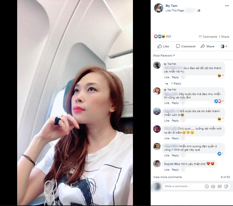 Phản ứng của Mỹ Tâm khi bị rình chụp trộm trên máy bay khiến fan nghi ngờ cô bị hack Facebook-2