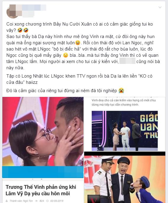Lâm Vỹ Dạ bị mạng xã hội đồng loạt công kích suốt ngày đòi hôn môi Trương Thế Vinh, lợi dụng tình xưa với Anh Đức đánh bóng hình ảnh-2