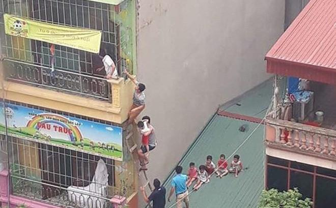 Hà Nội: Cháy cơ sở mầm non, các cháu nhỏ được sơ tán như phim hành động-1