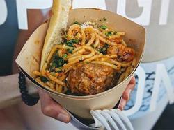 Spaghetti kem ốc quế độc đáo dành cho người bận rộn