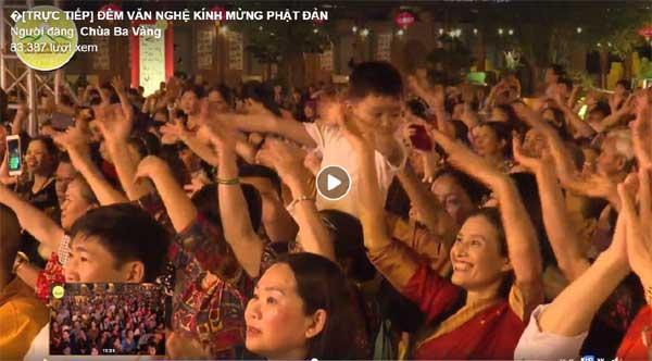 Bà Phạm Thị Yến tái xuất ở chùa Ba Vàng tham dự Lễ hội Phật đản-3