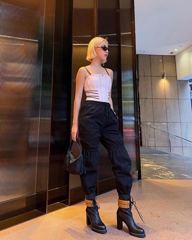STREET STYLE giới trẻ: Chi Pu - Quỳnh Anh Shyn siết eo nhỏ đến ngỡ ngàng với mốt áo corset-4