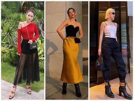 STREET STYLE giới trẻ: Chi Pu - Quỳnh Anh Shyn 'siết' eo nhỏ đến ngỡ ngàng với mốt áo corset