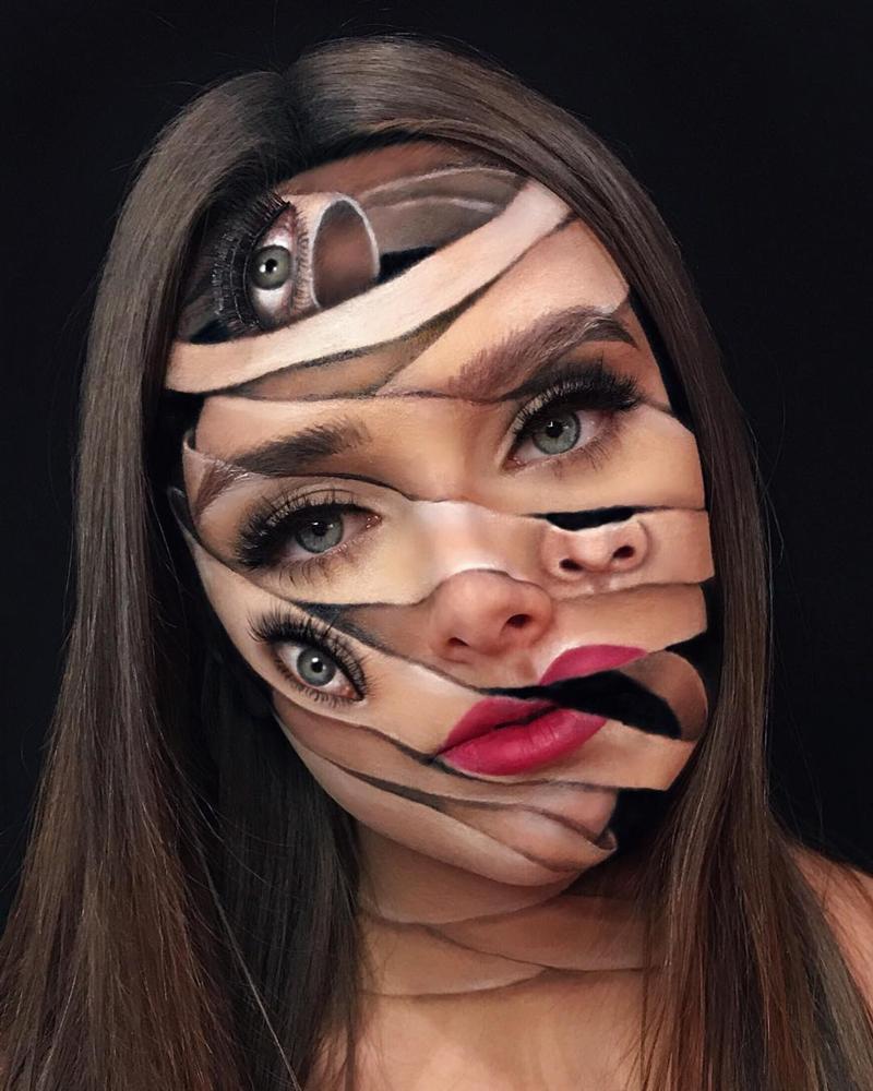 Chủ nhân màn hóa trang ảo giác của Ezra Miller tại Met Gala sở hữu hàng nghìn tác phẩm trang điểm đẹp đến rùng rợn-4