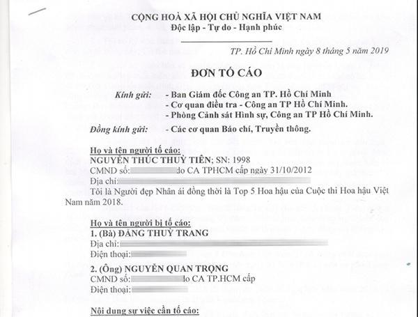 Nguyễn Thúc Thùy Tiên gửi đơn tố cáo chị gái Hoa hậu Đặng Thu Thảo-1