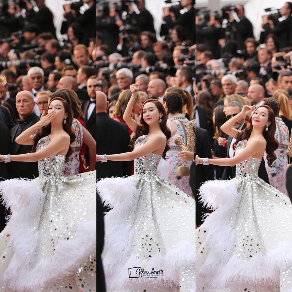 Jessica Jung mất điểm vì gương mặt bự phấn dù mặc đầm như một nàng công chúa trên thảm đỏ LHP Cannes 2019-9