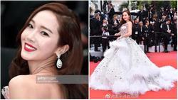 Jessica Jung mất điểm vì gương mặt bự phấn dù mặc đầm như một nàng công chúa trên thảm đỏ LHP Cannes 2019