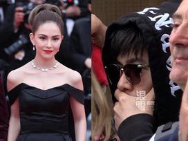 Yêu vợ say đắm như Châu Kiệt Luân: Đứng lặng trong đám đông ngắm Côn Lăng trên thảm đỏ Cannes