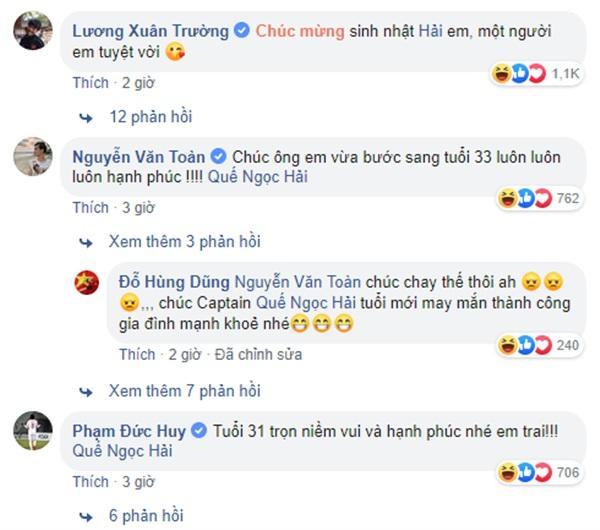 Tuyển Việt Nam thi nhau chúc sinh nhật Quế Ngọc Hải, fans thấy có gì đó không đúng khi đọc bình luận-2