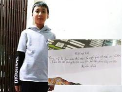 Hải Phòng: Bé trai 11 tuổi viết thư từ biệt gia đình để đi 'lập nghiệp', nhắn bố đừng đi tìm