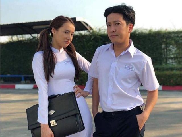 Trường Giang - Nhã Phương diện đồng phục học sinh hóa cặp đôi tình thơ đầy mộng mơ-1